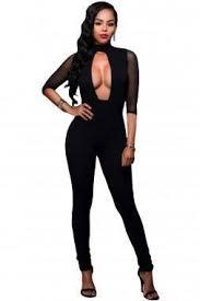 black mesh jumpsuit black keyhole mesh jumpsuit