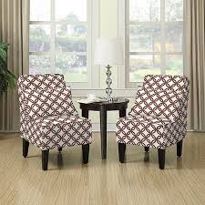 Brown Accent Chair Armless Accent Chair Set Of 2 Harmony Brown Walmart