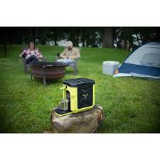coffeeboxx single serve camping coffee maker in green oxx llc