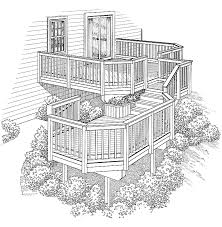 Decks And Patios For Dummies Eplans Deck Plan Two Levels Connected By Stairs From Eplans