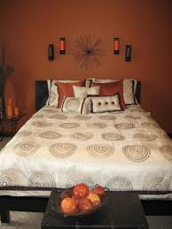 burnt orange wall color for bedroom home decor pinterest