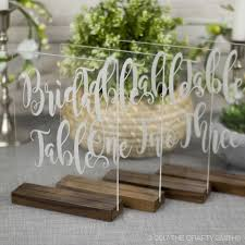 table numbers with pictures engraved clear acrylic table numbers the crafty smiths