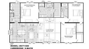 3 bedroom floor plan b 6711 hawks homes manufactured u0026 modular