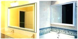 Framed Mirrors For Bathroom Vanities Custom Framed Mirror Idea Framed Mirrors For Bathrooms For Custom