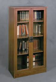 Wooden Bookcase With Glass Doors Top Bookcases With Glass Doors Of Picture With Outstanding Wooden