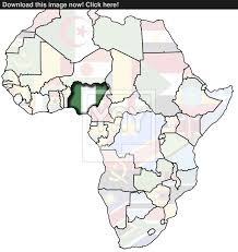 map of nigeria africa nigeria on africa map image yayimages com
