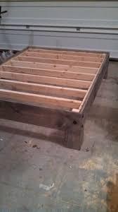 diy platform bed u0026 salvaged door headboard part three door