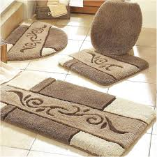 Grey And Yellow Bathroom by Bathroom Cool Grey Colored Bathroom Rug Sets In Three Piece