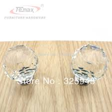 1x40mm clear round glass cabinet drawer crystal knobs and handles