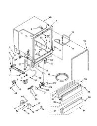 Kenmore Dishwasher Will Not Start Kenmore Dishwasher Parts Model 66515752000 Sears Partsdirect