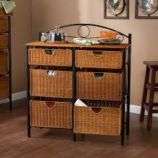 wicker storage chest
