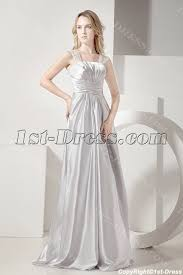 silver long plus size prom gown for cocktail party 1st dress com