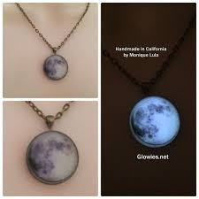 glow in the necklaces glowies glow jewelry the real moon glow pendant