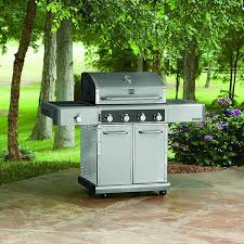 Backyard Grill 4 Burner Gas Grill by Kenmore Elite 600 Series 4 Burner Gas Grill With Side Burner Pg