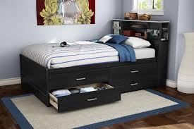 Queen Size Bedroom Wall Unit With Headboard Bedroom Modern Black Painted Solid Wood Captains Bed Frame Which