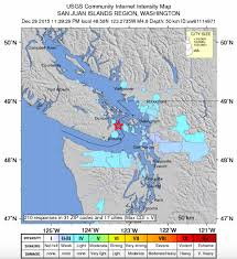 Portland Earthquake Map by Magnitude 4 8 Earthquake Hits 85 Miles North Of Seattle Largest