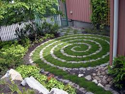 Backyard Ground Cover Options Easy Spiral Patio Lay Your Stones Or Bricks In A Spiral Pattern