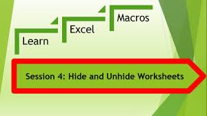 excel macro vba to hide and unhide excel worksheets vb script