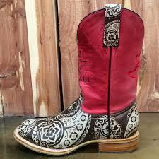 tin haul paisley rocks boot lucky j arena steakhouse rodeo