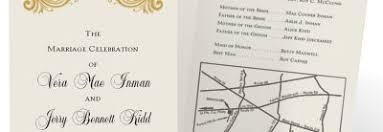 Program Paper How To Put A Map On Your Wedding Invitations Paperdirect Blog