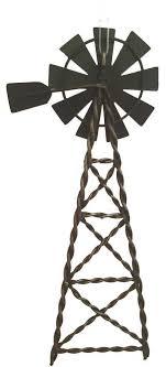 western ornament tin windmill pole west cowboy