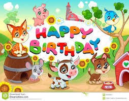 vector birthday card with funny pig stock photo image 20605930