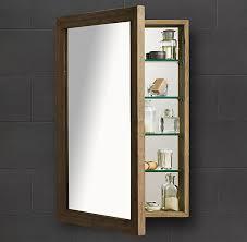 Recessed Medicine Cabinet Mirror H Recessed Medicine Cabinet In Weathered Oak Medicine Cabinet Restoration Hardware Master