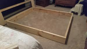 king size platform bed frame diy amazing58mli
