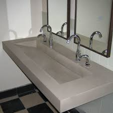 dishy concrete bathroom sink with countertops mount ramp sinks