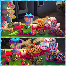 candy for birthdays shopkins birthday party candy bar buffet table shopkins party