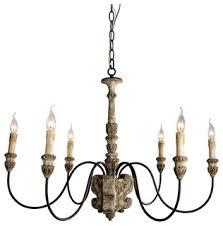 Traditional Chandelier Geovanna 6 Light Chandelier Traditional Chandeliers By