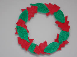christmas wreath u2013 easycraftsforchildren