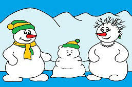 snowman family coloring pages