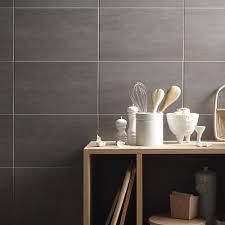 faience grise cuisine faïence mur gris clair eiffel l 25 x l 40 cm leroy merlin