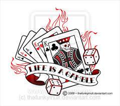 lifes a gamble cards tattoo design
