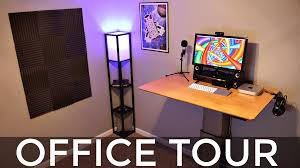 Office Desk Top View Png Standing Desk Setup Office Tour My Tech Methods