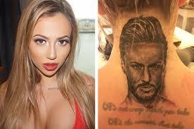 holly hagan begins process to remove neck tattoo of boyfriend u0027s