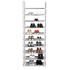 30 pair shoe cabinet embross 10 layer 9 grid 30 pair shoe rack storage organizer shoe