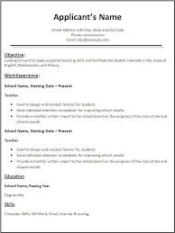 Teachers Resume Example by Teacher Resume Template Microsoft Word Best Resume Collection