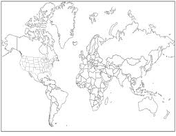Blank Printable World Map With Countries by Seeshellspace Projectors And World Maps