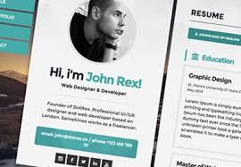 web resume 5 exles of beautiful resume cv web templates