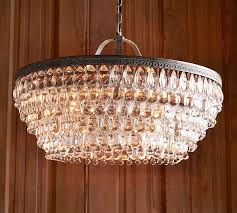 Iron Chandelier With Crystals Clarissa Crystal Drop Round Chandelier Pottery Barn