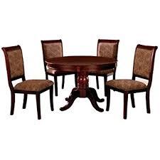 Circular Dining Room Tables - amazon com furniture of america sahrifa 5 piece duotone round