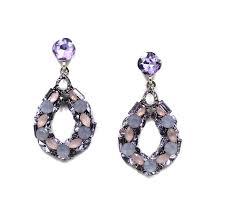 chic vintage party wear hanging water drop crystal earrings bali