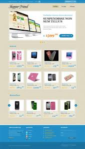 ecommerce website css template with jquery slider website css