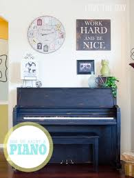 Folk Art Home Decor Chalk Painted Piano With Folkart Home Decor Chalk