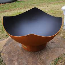 Steel Fire Pit - wood burning fire pits woodlanddirect com outdoor fireplace