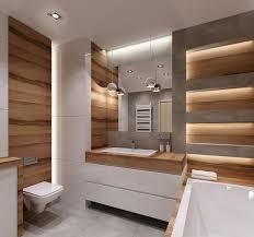 beleuchtung badezimmer indirekte beleuchtung und hochglanz oberflächen im kleinen bad