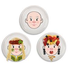 ms food face plate dishware kitchen kids game uncommongoods