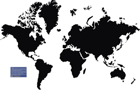 Outline Of The World Map by Map Outline Clipart Black And White